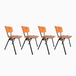 Vintage Stühle aus Stahlrohr & Schichtholz von Marko, 1960er, 4er Set