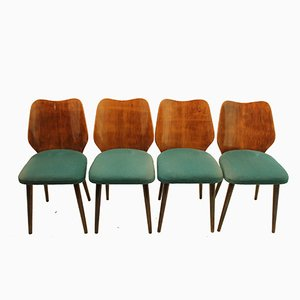 Vintage Czechoslovakian Chairs, Set of 4