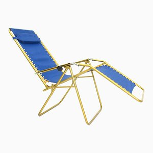 French Adjustable Lounger from Lafuma, 1970s