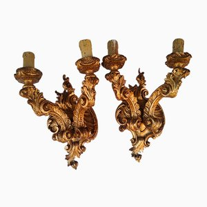 Baroque Wall Lamps, 1900s, Set of 2