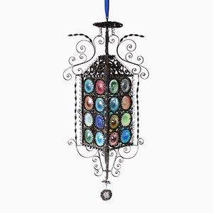 Lanterne Antique Vénitienne en Verre