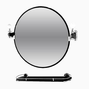 Specchio Galvorame Siena regolabile con mensola di Osvaldo Borsani per Metalvetro, anni '30