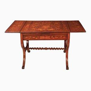Niederländischer Tisch aus Nussholz mit Intarsien, 1790er