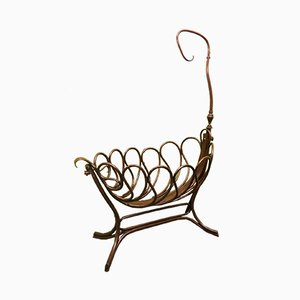 Austrian Art Nouveau Cradle from Thonet, 1900s