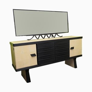 Mid-Century Black Shellac Sideboard by Pier Luigi Colli, 1950s