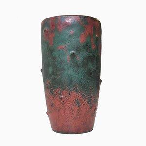 Art Deco Vase aus Keramik mit Camou-Glasur von Niels Peter Nielsen für Dagnaes, 1940er