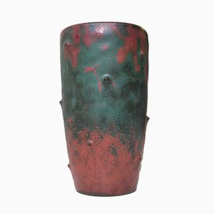 Ceramic Art Deco Vase with Camou-Glaze by Niels Peter Nielsen for Dagnaes, 1940s