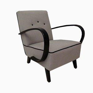 Mid-Century Sessel mit Gestell aus Buche & Stoffbezug, 1950er, 2er Set