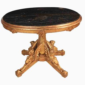18th Century Italian Gilt and Marble Centre Table