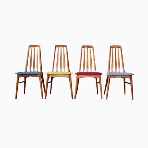 Mid-Century Stühle von Niels Kofoed für Kofoeds Möbelfabrik, 4er Set