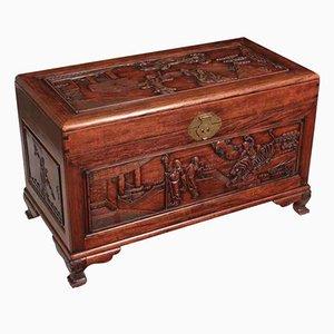 Chinesisches Kästchen aus Hartholz, 1920er
