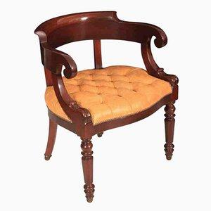 William IV Schreibtischstuhl aus Mahagoni
