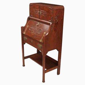Antique Arts & Crafts Oak Bureau
