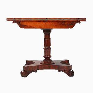 Table à Jeux de Cartes William IV en Palissandre