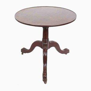 Table d'Appoint Antique avec Plateau en Acajou