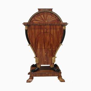 Secreter estilo Biedermeier de madera de cerezo, años 40
