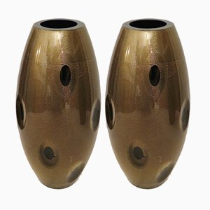 Murano Glass Vases, 1970s, Set of 2