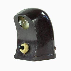 Lámpara de mesa checa de baquelita en miniatura, años 30