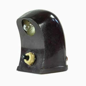 Tschechische Miniatur Bakelit Tischlampe, 1930er