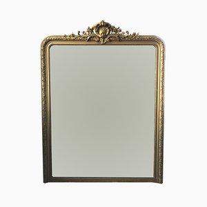 Espejo estilo Louis Philippe antiguo con flores