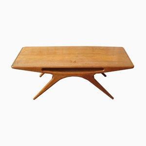Tavolino da caffè Smiley di Johannes Andersen per CFC Silkeborg, 1957