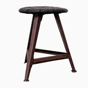 Vintage Bauhaus Stool from Bartos