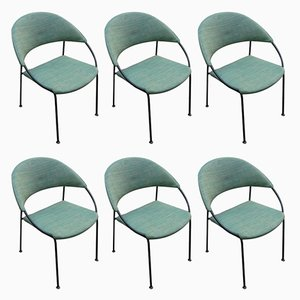 Vintage Chairs by Gastone Rinaldi for Rima, 1956, Set of 6