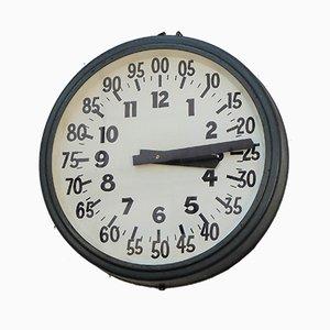 Reloj de fábrica industrial vintage