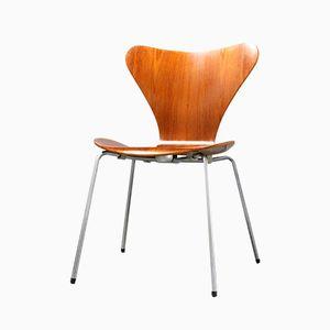 Silla 3107 edición temprana de teca de Arne Jacobsen para Fritz Hansen, 1963