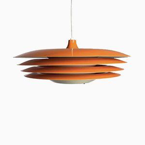 Lámpara de techo era espacial en naranja de Hans-Agne Jakobsson, años 70
