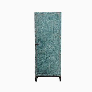 Vintage Industrial Green Flamed Cabinet