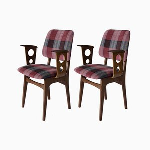 Mid-Century Dutch Teak Chairs, 1950s, Set of 2