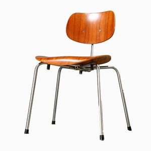 Vintage German SE 68 SU Side Chair by Egon Eiermann for Wilde+Spieth