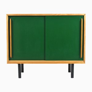 Mid-Century Green and Brown Sideboard, 1960s