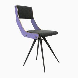 Chaise d'Appoint Mid-Century Violette, Italie, 1950s