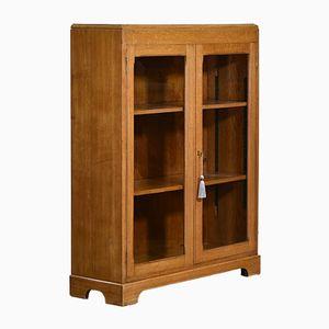 Vintage Oak Adjustable Office Bookcase, 1950s