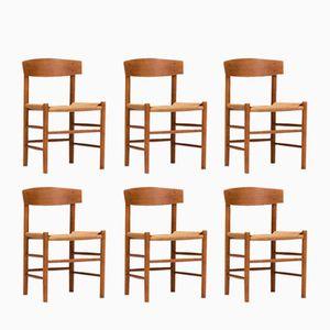 Modell J39 Stühle von Børge Mogensen für FDB, 1960er, 6er Set