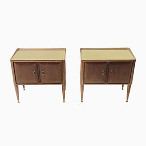 Tables de Chevet Mid-Century, Italie, 1950s, Set de 2