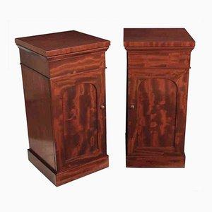 Victorian Mahogany Pedestal Cabinets, Set of 2