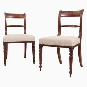 Regency Stühle aus Mahagoni, 2er Set