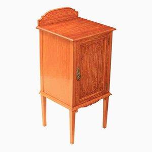 Antiker Nachttisch aus Satinholz mit Intarsien
