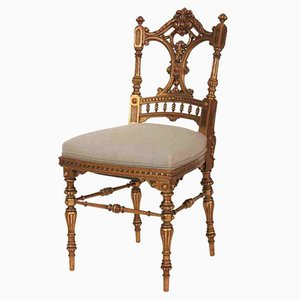 Vintage Carved Gilt Dressing Chair, 1920s