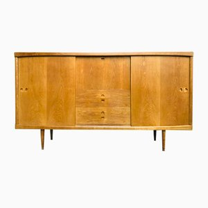 Mid-Century Oak Highboard by H.W. Klein for Bramin, 1960s