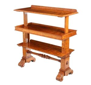 Antique Metamorphic Pollard Oak Console Table