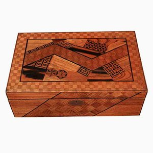 Antique Japanese Parquetry Writing Slope