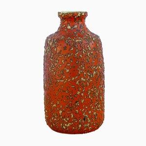 Glasierte ungarische Keramikvase von Tófej, 1970er