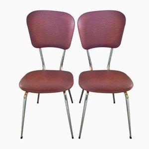 Vintage Stühle aus Skai & Chrom von Loire-Sieges, 2er Set