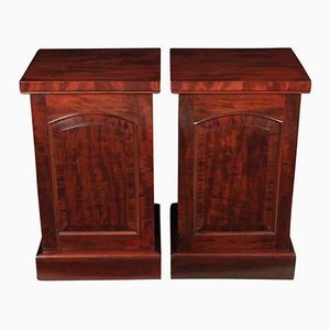 Mahogany Bedside Cabinets, 1860s, Set of 2