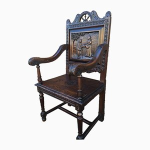 Antique Throne Armchair