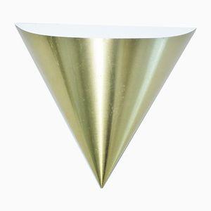 Goldene Wandlampe von Dieter Witte für Staff, 1960er